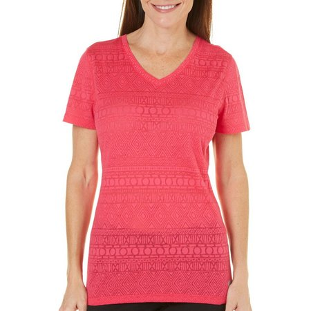 Reel Legends Womens Freescent Tribal Burnout Top