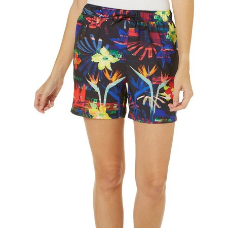 Reel Legends Womens Tropical Glitch Elastic Waist Shorts