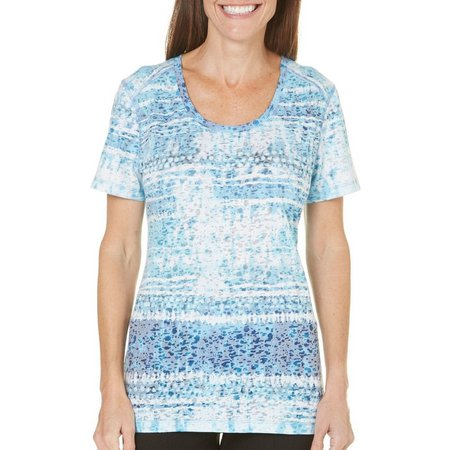 Reel Legends Womens Batik Burnout T-Shirt