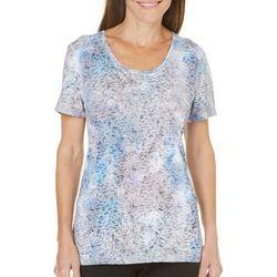 Reel Legends Womens Stripe Burnout T-Shirt