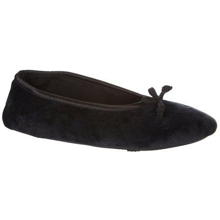 Dearfoams Womens Velour Ballerina Slippers