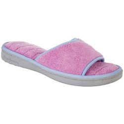 Dearfoams Womens Memory Foam Terry Scuff Slippers