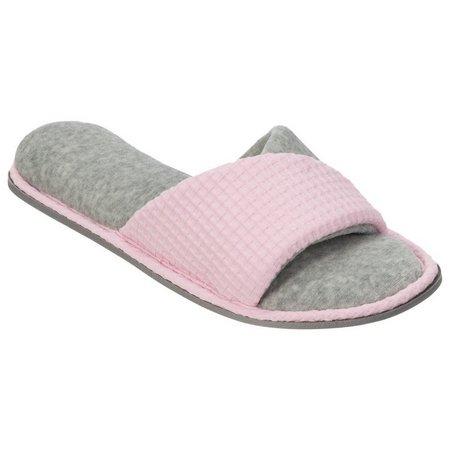Dearfoams Womens Textured Twist Vamp Slippers