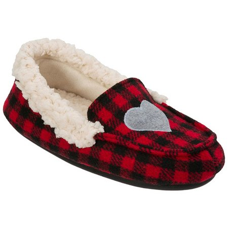 Dearfoams Girls Holiday Moccasin Slippers