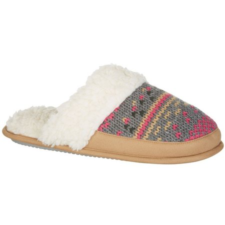 Dearfoams Womens Knit Scuff Mule Slippers