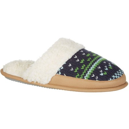 Dearfoams Womens Knitted Scuff Mule Slippers