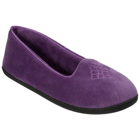 Dearfoams Womens Memory Foam Closed Back Slippers
