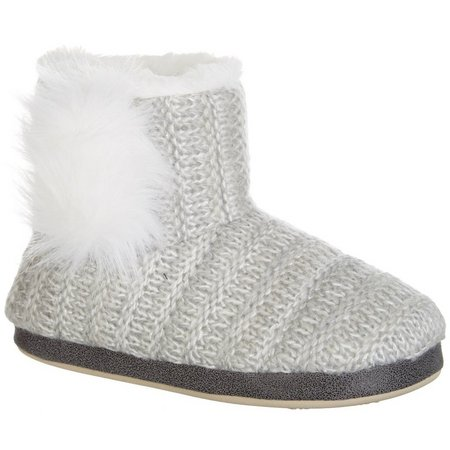 Kensie Womens Shimmer Boot Slippers