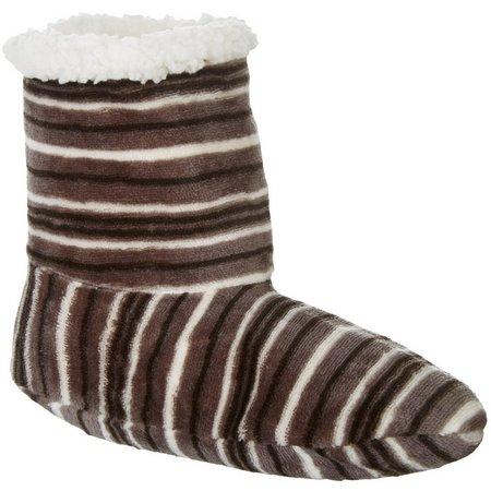 Cuddl Duds Womens Stripe Flannel Boots