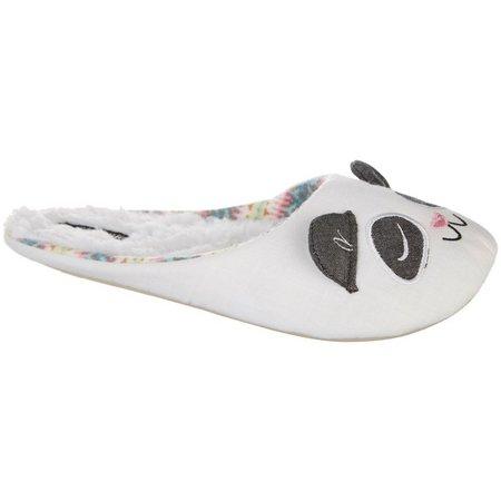 Kensie Womens Chambray Panda Slippers