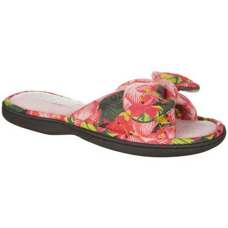 Gold Toe Womens Nola Floral Slide Slippers