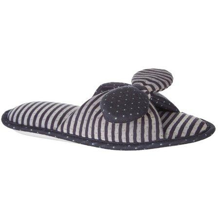 Gold Toe Womens Stripe Lunette Slide Slipper