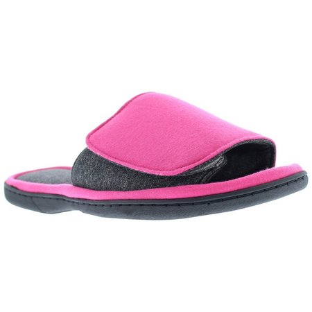 Gold Toe Womens Solid Slide Slippers