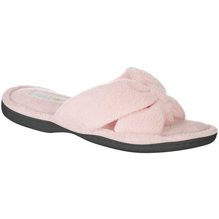 New! Gold Toe Womens Crisscross Thong Slippers