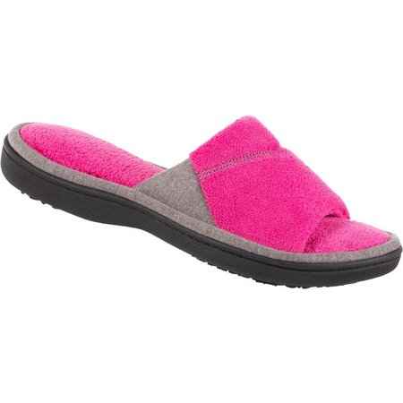 Isotoner Womens Mei Microterry Slide Slippers