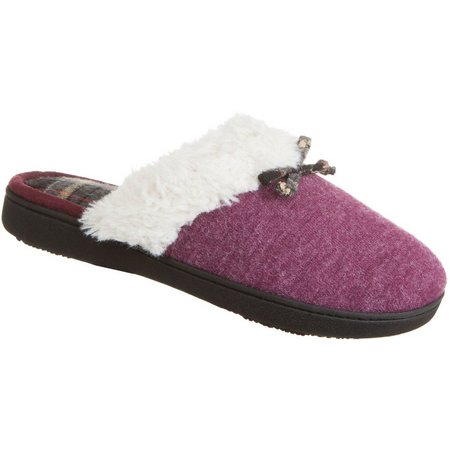 Isotoner Womens Brushed Knit Clog Slippers