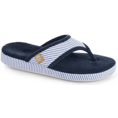 Acorn Womens Striped Thong Slippers
