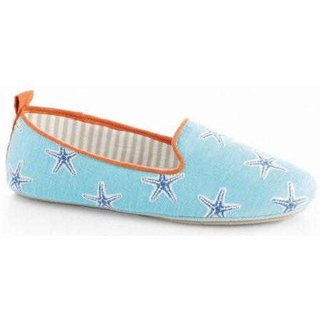 Acorn Womens Novella Aqua Starfish Slipper