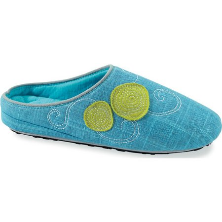 Acorn Womens Turquoise Cottage Scuff Slipper