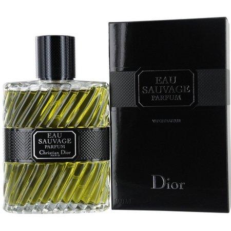 Christian Dior Mens Eau Sauvage Parfum Spray 3.4