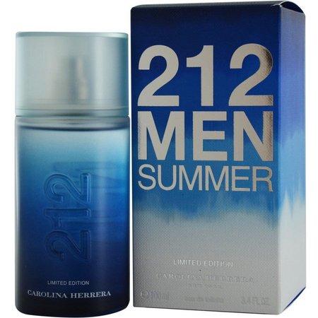 New! Carolina Herrera Mens 212 Summer EDT Spray