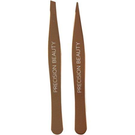 Precision Beauty Slant & Point Tweezer Set