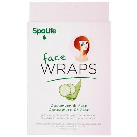 SpaLife Cucumber & Aloe Face Wraps