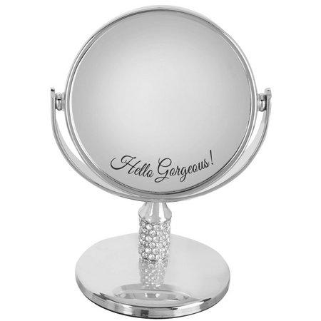 Danielle Silver Tone Hello Gorgeous Mini Mirror