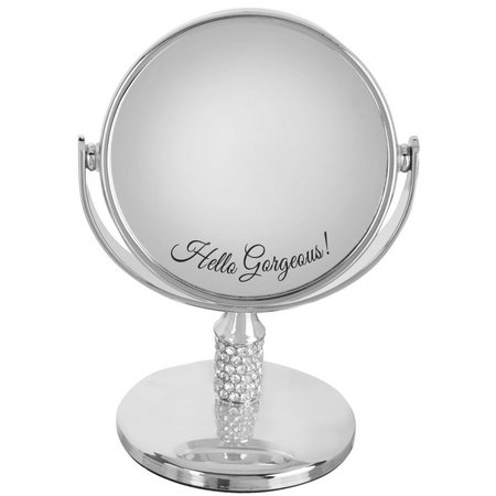 Danielle Silver Tone Hello Gorgeous Mini Mirror