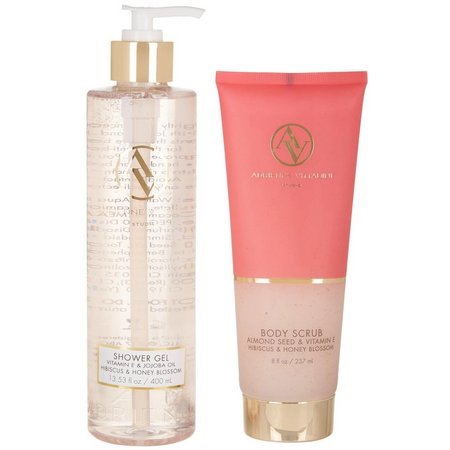 Adrienne Vittadini Shower Gel & Body Scrub Set
