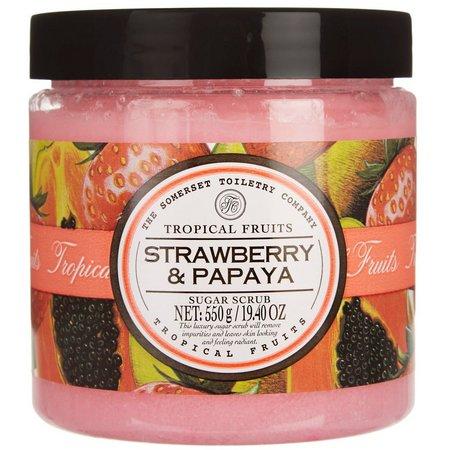 Tropical Fruits Strawberry & Papaya Sugar Scrub