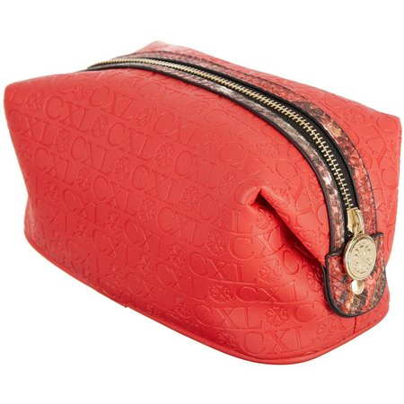 Christian LaCroix Embossed Voyager Cosmetic Bag