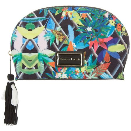 Christian LaCroix Tropical Small Dome Cosmetic Bag