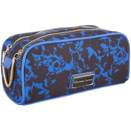 Christian LaCroix Double Zip Cosmetic Bag