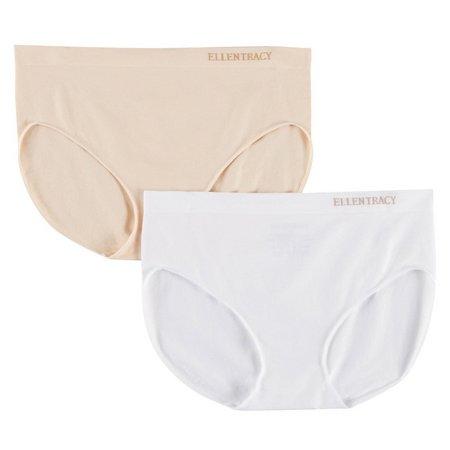 Ellen Tracy 2-pk. Seamless Hipster Panties