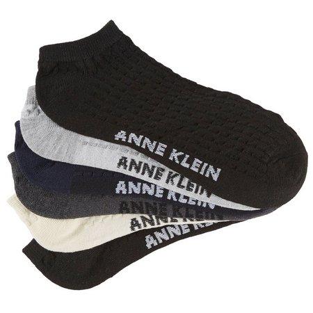 Anne Klein Womens 6-pk. Waffle Knit Socks