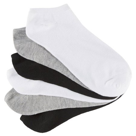 BCBG Womens 6-pk. Multi Solid Socks