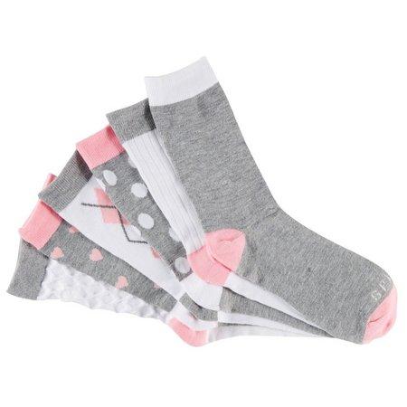 Esprit Womens 6-pk. Heatherd Crew Socks