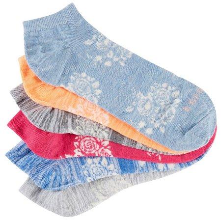 Esprit Womens 6-pk. Floral Fashion Socks