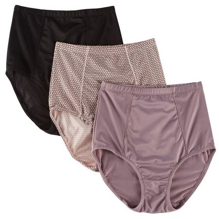 Laura Ashley 3-pk. Microfiber Shaping Briefs