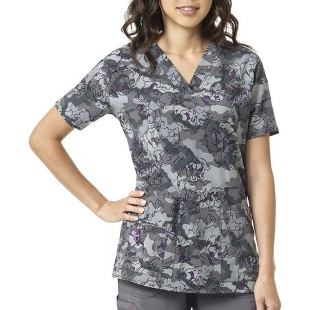 Carhartt Womens Cross Flex Floral Camo Scrub Top