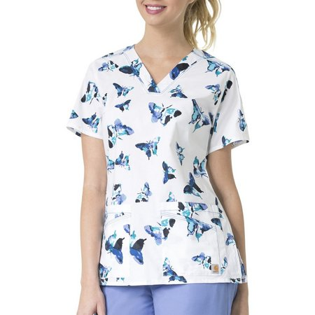Carhartt Womens Take Wing Butterfly Scrub Top
