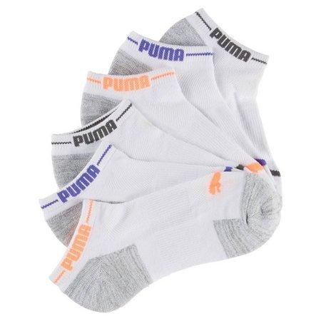 Puma Womens 6-pk. Marled Knit Trim Cushioned Low