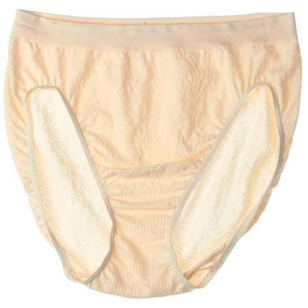 Bali Comfort Revolution Damask Hi Cut Brief Panty