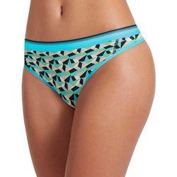Jockey Sporties Geo Print Mesh Thong Panties 2198