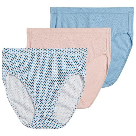 Jockey 3-pk Elance Breathe Hi Cut Panties 1541