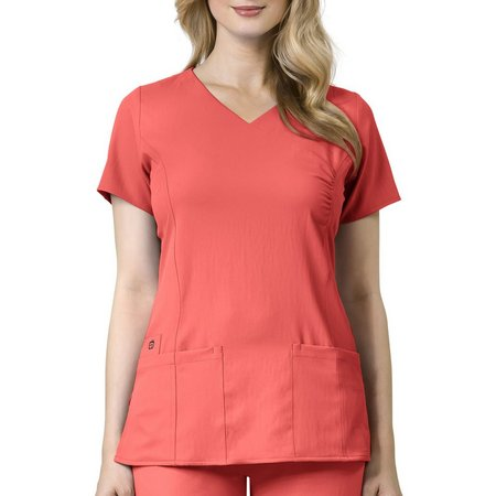 Wonderwink Plus Easy Fit Shirred Scrub Wrap
