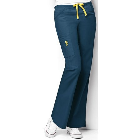 WonderWink Petite Romeo 6 Pocket Flare Scrub Pants
