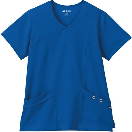 Jockey Womens Asymmetrical Grommet Scrub Top