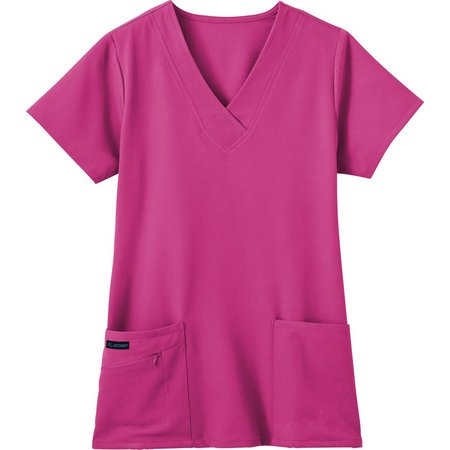 Jockey Extended Plus Zipper Pocket Scrub Top